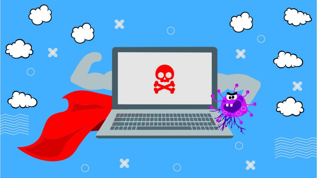 menghapus virus laptop